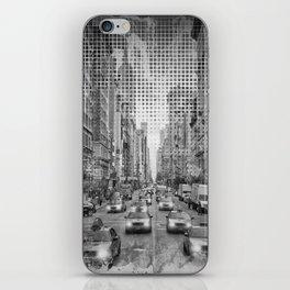 Graphic Art NEW YORK CITY Traffic | Monochrome iPhone Skin