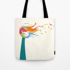 Birds Color Tote Bag