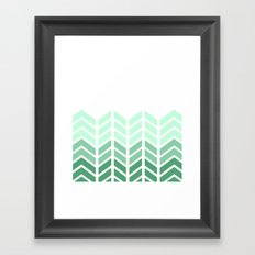 OMBRE LACE CHEVRON Framed Art Print