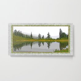 REFLECTIONS ON A PLACID MOUNTAIN LAKE Metal Print
