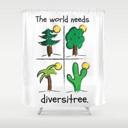 Diversitree Shower Curtain