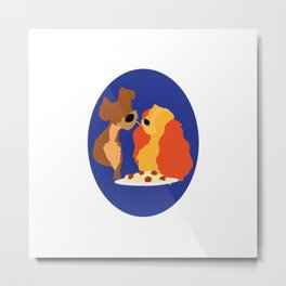 Lady and the Tramp Metal Print