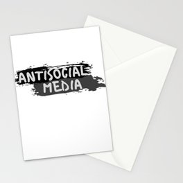 "Antisocial Media aka Anti-""Social Media"" Stationery Cards"
