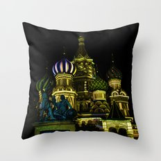 Saint Basil's Cathedral, Moscow Throw Pillow