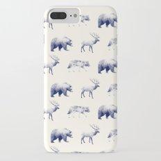 Wild Pattern // Blue iPhone 7 Plus Slim Case