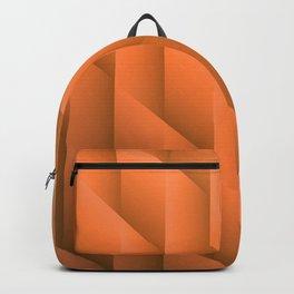 Gradient Orange Diamonds Geometric Shapes Backpack