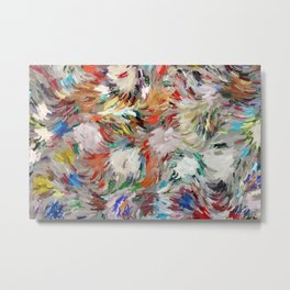 Colorful painterly Metal Print