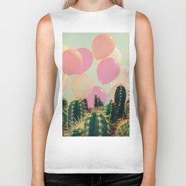 Balloons and cactus Biker Tank