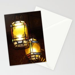 Moroccan Lamps Stationery Cards