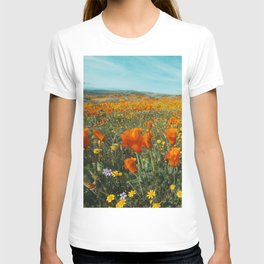 California Wildflower Poppy Superbloom T-shirt