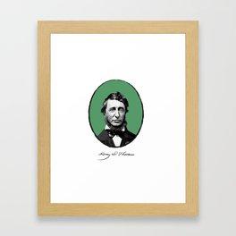 Authors - Henry David Thoreau Framed Art Print