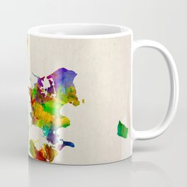 Denmark Map in Watercolor Coffee Mug