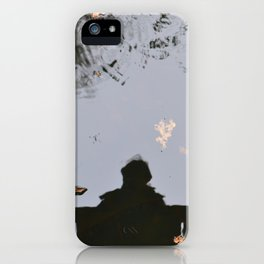 Reflection of oneself iPhone Case
