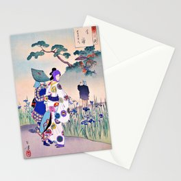 Mizuno Toshikata - Top Quality Art - Blue Flag Stationery Cards