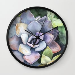 dawnsing succulents Wall Clock