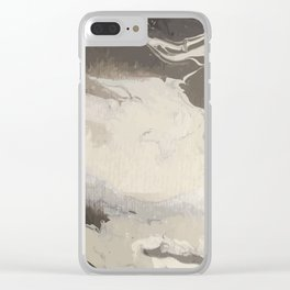 Marbled Hot Chocolate Clear iPhone Case
