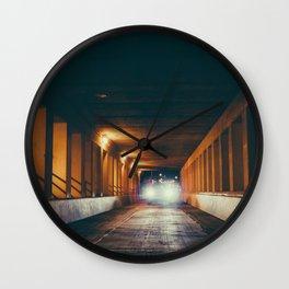 Milwaukee Bridge at Night Wall Clock