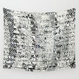 The Eternal Return of the Unique Event (P/D3 Glitch Collage Studies) Wall Tapestry