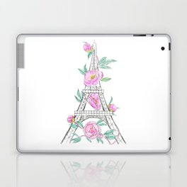 Eiffel tower and peonies Laptop & iPad Skin