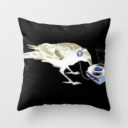 Ravens Like Music Too Throw Pillow