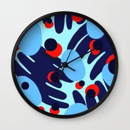 Blue Tropics Wall Clock