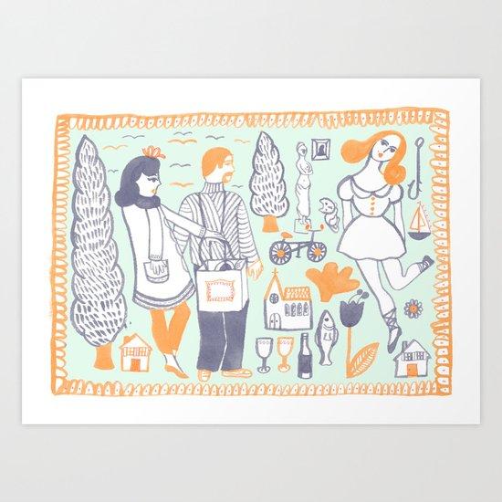 Travel Art Print