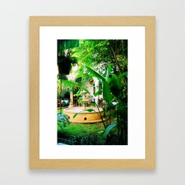 Paradise Fountain Framed Art Print