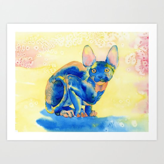 Sphynx Cat 1 Art Print