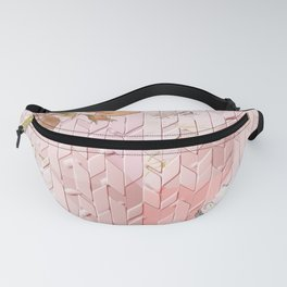 Pink Rose Chevron Fanny Pack