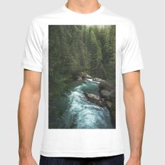 The Lost River - Pacific Northwest Mens Fitted Tee MEDIUM White