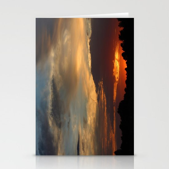 Warm Summer Sunset Stationery Cards