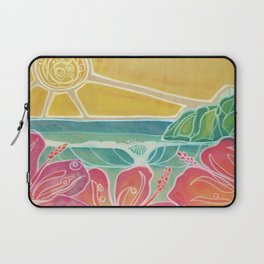 Triple Hibiscus Surf Art by Lauren Tannehill Art Laptop Sleeve