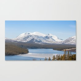 Icy river in Norway Canvas Print