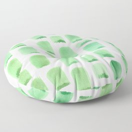 Sea foam to Pistachio Serene Green Minimalist Watercolor Floor Pillow