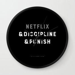 Netflix & Discipline & Punish Wall Clock