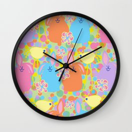 Bunnies and Friends Wall Clock