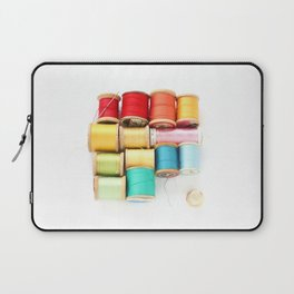 Colorful Needle and Thread Laptop Sleeve