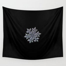 Real snowflake - Hyperion black Wall Tapestry