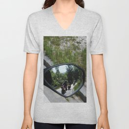 excursion by motorcycle 2 Unisex V-Neck