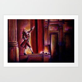 Curtain Call Art Print