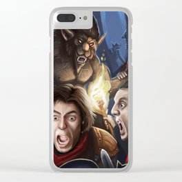 Encounter in the woods Clear iPhone Case