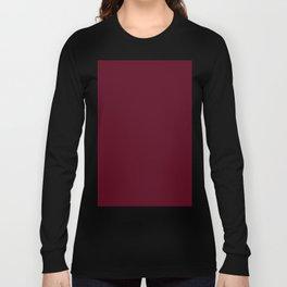 Dark Scarlet Red Long Sleeve T-shirt