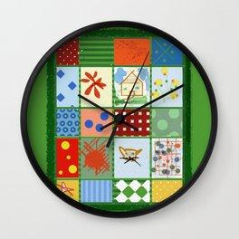 WINTER QUILT Wall Clock