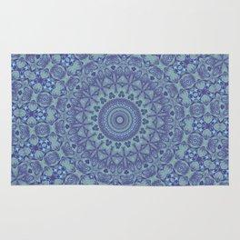 Shades of blue mandala Rug