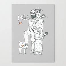 H+W Canvas Print