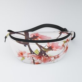 Peach Cherry Bloom Fanny Pack