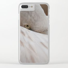 Chilean flamingo resting Clear iPhone Case