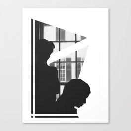Silhouettes In Window Canvas Print