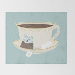 Kit-Tea Throw Blanket