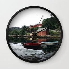 Harbour in Norway Wall Clock